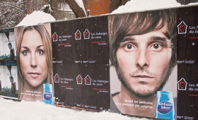 Dandruff Shampoo Makes Good Use Of The Canadian Winter With Outdoor Ads
